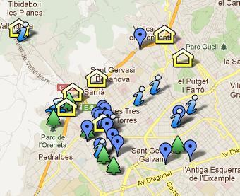 Mapa de llocs per a Sarrià Petits