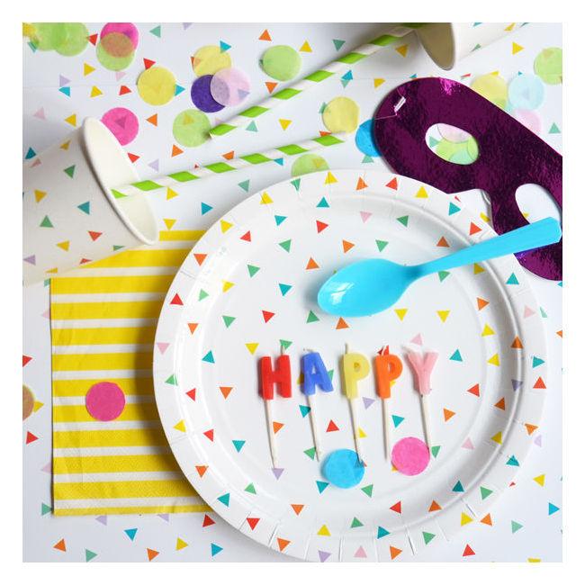 platos papel fiestas