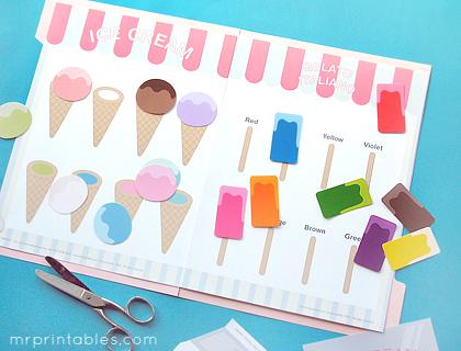 paradeta de gelats imprimible
