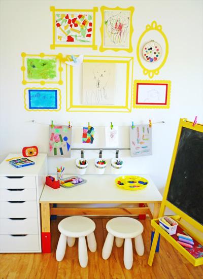 pintar marcs penjar dibuixos nens