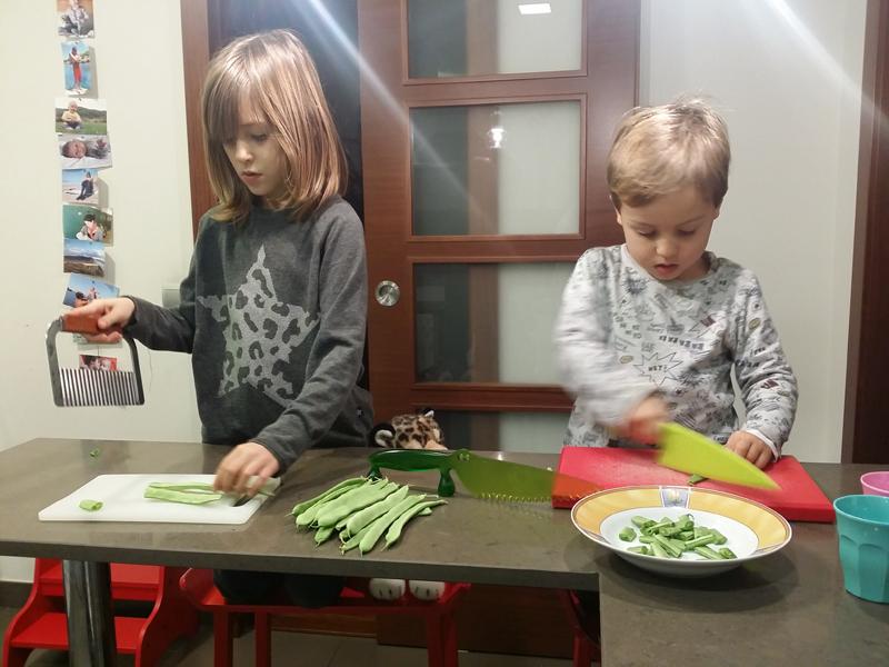 cuinar amb nens