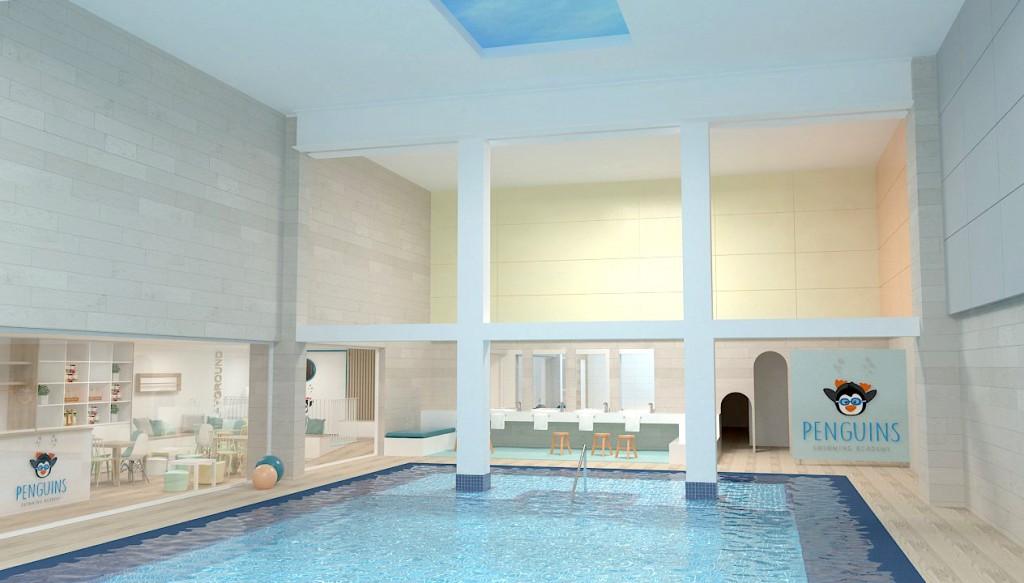 piscina penguins barcelona