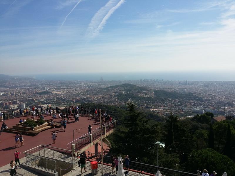 vistas barcelona tibidabo